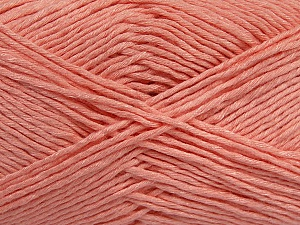 Please note that the yarn weight and the ball length may vary from one color to another for this yarn. Fiber Content 100% Cotton, Light Salmon, Brand ICE, Yarn Thickness 3 Light  DK, Light, Worsted, fnt2-43900