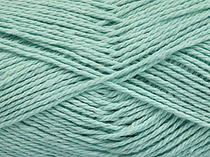 Fiber Content 100% Cotton, Mint Green, Brand ICE, Yarn Thickness 3 Light  DK, Light, Worsted, fnt2-44328
