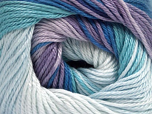 Fiber Content 100% Mercerised Cotton, Lilac Shades, Brand ICE, Blue Shades, Yarn Thickness 2 Fine  Sport, Baby, fnt2-44693