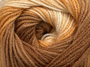 Fiber Content 100% Acrylic, Brand ICE, Cream, Brown Shades, Yarn Thickness 3 Light  DK, Light, Worsted, fnt2-44704