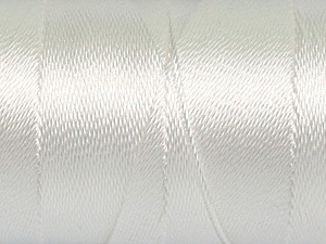 Fiber Content 100% Polyester, White, Brand Ice Yarns, Yarn Thickness 0 Lace  Fingering Crochet Thread, fnt2-44825