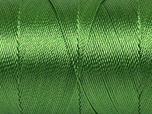 Fiber Content 100% Polyester, Brand ICE, Green, Yarn Thickness 0 Lace  Fingering Crochet Thread, fnt2-44829