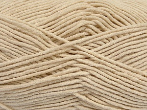 Fiber Content 55% Cotton, 45% Acrylic, Light Beige, Brand ICE, Yarn Thickness 4 Medium  Worsted, Afghan, Aran, fnt2-45142