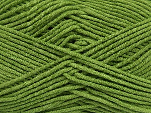 Fiber Content 55% Cotton, 45% Acrylic, Brand ICE, Green, Yarn Thickness 4 Medium  Worsted, Afghan, Aran, fnt2-45145