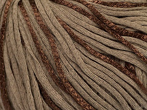 Fiber Content 79% Cotton, 21% Viscose, Brand ICE, Brown, Yarn Thickness 3 Light  DK, Light, Worsted, fnt2-45187