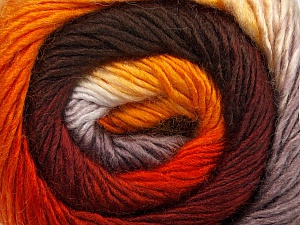Fiber Content 50% Wool, 50% Acrylic, Orange, Brand ICE, Grey, Gold, Brown, Yarn Thickness 2 Fine  Sport, Baby, fnt2-45315