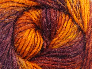 Fiber Content 70% Dralon, 30% Wool, Orange, Maroon, Brand ICE, Copper, Burgundy, Yarn Thickness 4 Medium  Worsted, Afghan, Aran, fnt2-45407