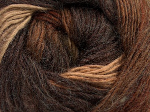 Fiber Content 40% Wool, 30% Acrylic, 30% Mohair, Brand ICE, Brown Shades, Yarn Thickness 3 Light  DK, Light, Worsted, fnt2-45797