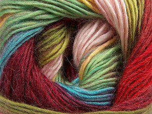 Fiber Content 40% Wool, 30% Mohair, 30% Acrylic, Yellow, Red, Pink, Brand ICE, Green, Burgundy, Blue, Yarn Thickness 3 Light  DK, Light, Worsted, fnt2-45802