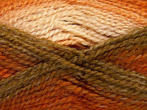 Fiber Content 55% Acrylic, 25% Mohair, 20% Alpaca, Orange, Khaki, Brand Ice Yarns, Cream, Copper, Yarn Thickness 4 Medium  Worsted, Afghan, Aran, fnt2-46208