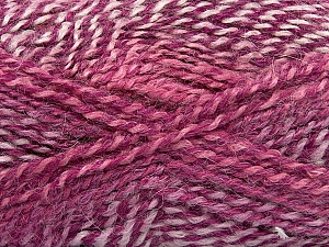 Fiber Content 55% Acrylic, 25% Mohair, 20% Alpaca, Purple Shades, Pink, Orchid, Lilac, Brand Ice Yarns, Yarn Thickness 4 Medium  Worsted, Afghan, Aran, fnt2-46211