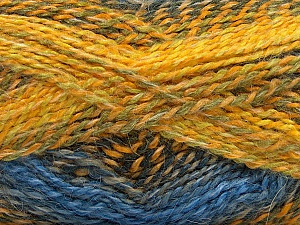 Fiber Content 55% Acrylic, 25% Mohair, 20% Alpaca, Yellow, Brand Ice Yarns, Grey, Green, Blue, Yarn Thickness 4 Medium  Worsted, Afghan, Aran, fnt2-46212