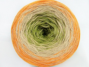 Fiber Content 50% Acrylic, 50% Cotton, Orange, Brand ICE, Green, Beige, Yarn Thickness 2 Fine  Sport, Baby, fnt2-46428