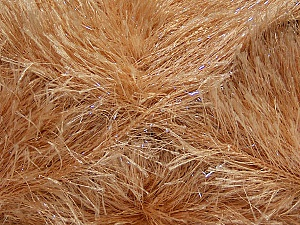 Fiber Content 80% Polyester, 20% Lurex, Brand ICE, Cafe Latte, Yarn Thickness 5 Bulky  Chunky, Craft, Rug, fnt2-46551