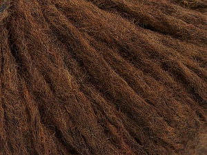 Fiber Content 60% Merino Wool, 25% Polyamide, 15% Acrylic, Brand ICE, Dark Brown, Yarn Thickness 4 Medium  Worsted, Afghan, Aran, fnt2-46903