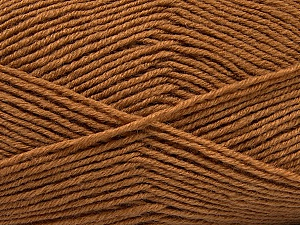 Fiber Content 55% Virgin Wool, 5% Cashmere, 40% Acrylic, Brand ICE, Dark Camel, Yarn Thickness 2 Fine  Sport, Baby, fnt2-47156