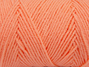 Items made with this yarn are machine washable & dryable. Fiber Content 100% Dralon Acrylic, Light Orange, Brand ICE, Yarn Thickness 4 Medium  Worsted, Afghan, Aran, fnt2-47183