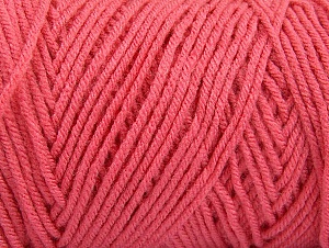 Items made with this yarn are machine washable & dryable. Fiber Content 100% Dralon Acrylic, Brand ICE, Candy Pink, Yarn Thickness 4 Medium  Worsted, Afghan, Aran, fnt2-47193