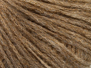 Fiber Content 45% Kid Mohair, 33% Acrylic, 22% Polyamide, Light Brown Melange, Brand ICE, Yarn Thickness 2 Fine  Sport, Baby, fnt2-47430