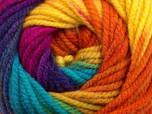 Fiber Content 100% Acrylic, Yellow, Turquoise, Purple, Orange, Brand ICE, Fuchsia, Yarn Thickness 5 Bulky  Chunky, Craft, Rug, fnt2-48093