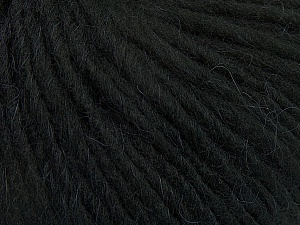 Fiber Content 50% Merino Wool, 25% Acrylic, 25% Alpaca, Brand Ice Yarns, Black, Yarn Thickness 5 Bulky  Chunky, Craft, Rug, fnt2-48695
