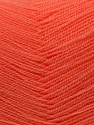 Very thin yarn. It is spinned as two threads. So you will knit as two threads. Fiber Content 100% Acrylic, Light Salmon, Brand ICE, Yarn Thickness 1 SuperFine  Sock, Fingering, Baby, fnt2-22451
