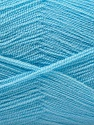 Very thin yarn. It is spinned as two threads. So you will knit as two threads. Yardage information is for only one strand. Fiber Content 100% Acrylic, Light Blue, Brand ICE, Yarn Thickness 1 SuperFine  Sock, Fingering, Baby, fnt2-22666