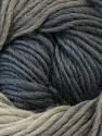 A self-striping yarn, which gets its design when knitted Fiber Content 100% Wool, Silver, Brand ICE, Grey Shades, Yarn Thickness 4 Medium  Worsted, Afghan, Aran, fnt2-23829