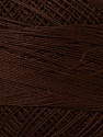 Fiber Content 100% Mercerised Cotton, Brand ICE, Brown, Yarn Thickness 0 Lace  Fingering Crochet Thread, fnt2-27793