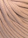 This is a tube-like yarn with soft cotton fleece filled inside. Fiber Content 70% Cotton, 30% Polyester, Brand ICE, Beige, Yarn Thickness 5 Bulky  Chunky, Craft, Rug, fnt2-32490