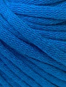 This is a tube-like yarn with soft cotton fleece filled inside. Fiber Content 70% Cotton, 30% Polyester, Brand ICE, Bright Blue, Yarn Thickness 5 Bulky  Chunky, Craft, Rug, fnt2-32508
