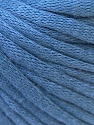 This is a tube-like yarn with soft cotton fleece filled inside. Fiber Content 70% Cotton, 30% Polyester, Indigo Blue, Brand ICE, Yarn Thickness 5 Bulky  Chunky, Craft, Rug, fnt2-32511