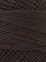 Fiber Content 100% Mercerised Cotton, Brand ICE, Brown, Yarn Thickness 0 Lace  Fingering Crochet Thread, fnt2-32515