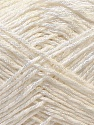 Fiber Content 50% Cotton, 50% Polyester, White, Brand ICE, Yarn Thickness 2 Fine  Sport, Baby, fnt2-33040