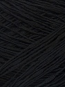 Fiber Content 100% Cotton, Brand ICE, Black, Yarn Thickness 2 Fine  Sport, Baby, fnt2-34490
