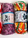 Please note that the weight and yardage information for this lot is approximate Scarf Yarns, Brand Ice Yarns, Yarn Thickness 6 SuperBulky  Bulky, Roving, fnt2-34793