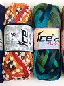 Please note that the weight and yardage information for this lot is approximate Scarf Yarns, Brand Ice Yarns, Yarn Thickness 6 SuperBulky  Bulky, Roving, fnt2-34803