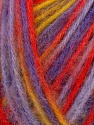 Fiber Content 70% Acrylic, 30% Wool, Yellow, Red, Lilac, Brand ICE, Yarn Thickness 2 Fine  Sport, Baby, fnt2-35648