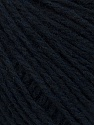 Fiber Content 50% Wool, 50% Acrylic, Brand ICE, Dark Navy, Black, Yarn Thickness 4 Medium  Worsted, Afghan, Aran, fnt2-35908