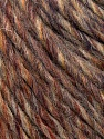 Fiber Content 50% Merino Wool, 25% Acrylic, 25% Alpaca, Brand ICE, Brown Shades, Yarn Thickness 5 Bulky  Chunky, Craft, Rug, fnt2-36199