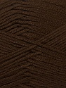 Fiber Content 100% Acrylic, Brand ICE, Dark Brown, Yarn Thickness 2 Fine  Sport, Baby, fnt2-36403
