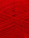 Fiber Content 60% Acrylic, 40% Angora, Red, Brand ICE, Yarn Thickness 2 Fine  Sport, Baby, fnt2-36473
