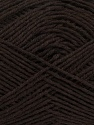 Fiber Content 65% Cotton, 35% Acrylic, Brand ICE, Dark Brown, Yarn Thickness 2 Fine  Sport, Baby, fnt2-37117