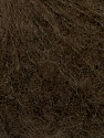 Knitted as 4 ply Fiber Content 40% Polyamide, 30% Kid Mohair, 30% Acrylic, Brand ICE, Dark Brown, Yarn Thickness 1 SuperFine  Sock, Fingering, Baby, fnt2-37277