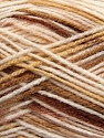 Fiber Content 90% Acrylic, 10% Polyamide, Brand ICE, Cream, Brown Shades, fnt2-37358