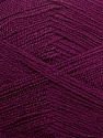 Very thin yarn. It is spinned as two threads. So you will knit as two threads. Yardage information is for only one strand. Fiber Content 100% Acrylic, Purple, Brand ICE, Yarn Thickness 1 SuperFine  Sock, Fingering, Baby, fnt2-39405