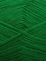 Very thin yarn. It is spinned as two threads. So you will knit as two threads. Yardage information is for only one strand. Fiber Content 100% Acrylic, Brand ICE, Green, Yarn Thickness 1 SuperFine  Sock, Fingering, Baby, fnt2-39407