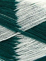 Very thin yarn. It is spinned as two threads. So you will knit as two threads. Yardage information if for two strands. Fiber Content 100% Acrylic, White, Brand ICE, Dark Green, Yarn Thickness 1 SuperFine  Sock, Fingering, Baby, fnt2-39627