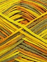 Fiber Content 100% Acrylic, Yellow, Khaki, Brand ICE, Green, Yarn Thickness 2 Fine  Sport, Baby, fnt2-39774