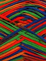Fiber Content 100% Acrylic, Red, Orange, Brand ICE, Green, Blue, Yarn Thickness 2 Fine  Sport, Baby, fnt2-39775
